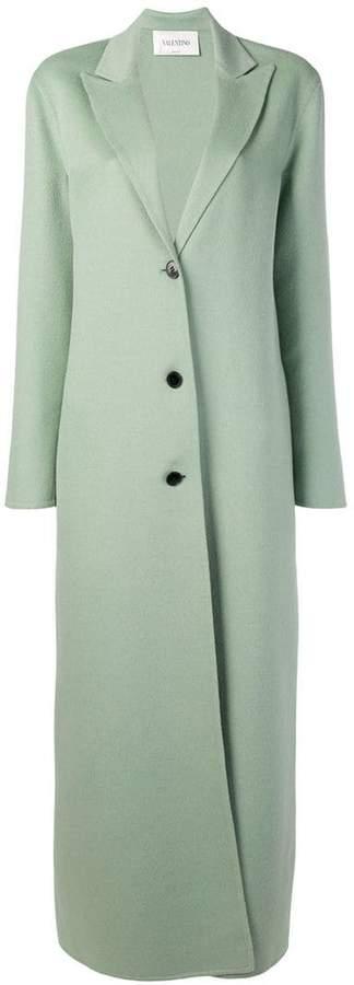 long buttoned coat