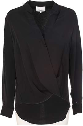 3.1 Phillip Lim Crossover Collarless Draped Blouse