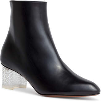 Alaia Black 50 leather plexi heel ankle boots