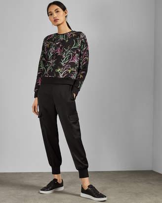 Ted Baker VENCIA Dark Fortune print cotton sweatshirt