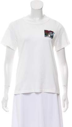 Marc Jacobs Embroidered Short Sleeve Top