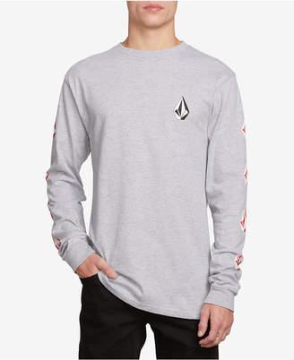 Volcom Men Deadly Stones Long-Sleeve Logo T-Shirt