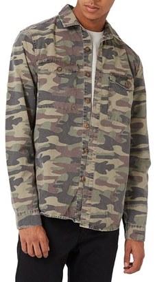Men's Topman Camo Shirt Jacket $65 thestylecure.com