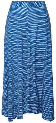 Velvet Titania Printed Midi Skirt
