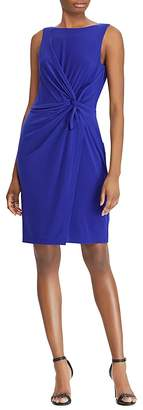Lauren Ralph Lauren Petites Twist-Front Sheath Dress