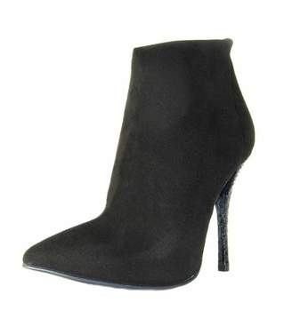 Baldan Luxury Shoes Suede Python Bootie