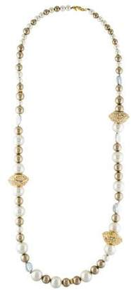 Alexis Bittar Sculptural Faux Pearl Single Strand Necklace