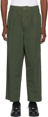 Juun.J Khaki Triple Pleated Trousers