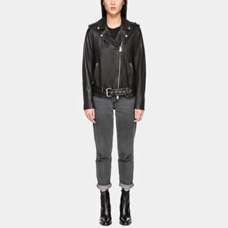 Mackage Chiara Boyfriend Moto Leather Jacket