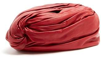 Gucci Twisted Front Leather Turban Hat - Womens - Red