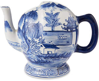 "One Kings Lane 8"" Pillement Teapot - Blue/White"