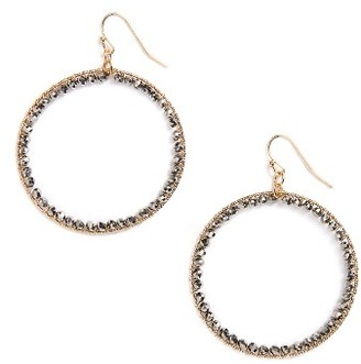 Women's Panacea Crystal Circle Earrings $18 thestylecure.com