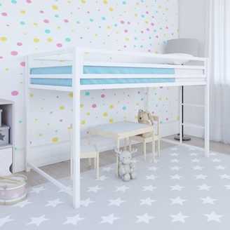 DHP Miles Metal Junior Twin Loft Bed, Multiple Colors
