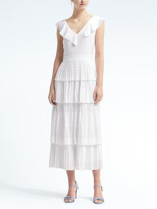 Laser-Cut Pleated Midi Dress $178 thestylecure.com
