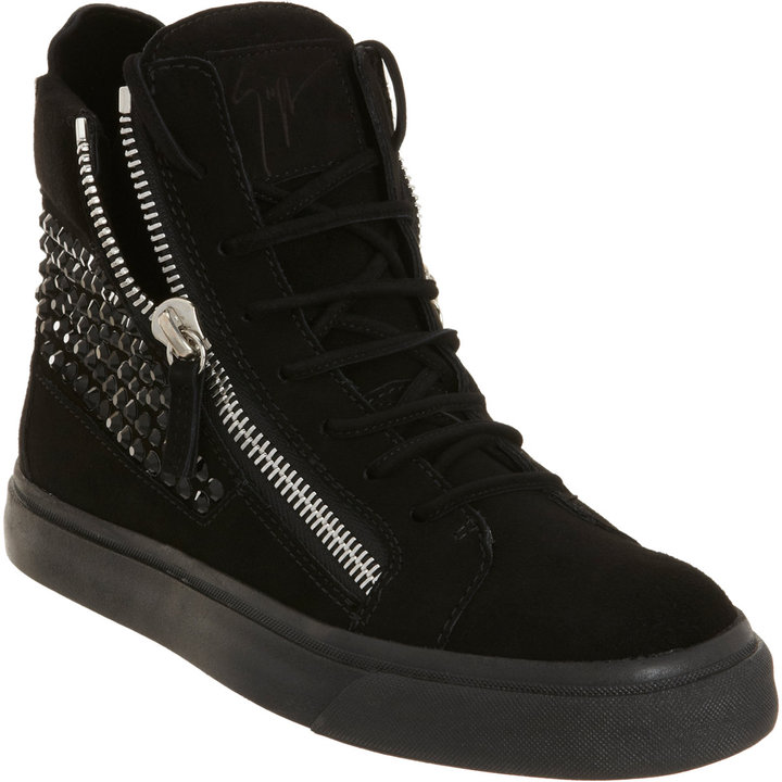Giuseppe Zanotti Jeweled Zip High Top