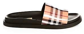 Burberry Women's Leather Sole Pool Slides Sandals