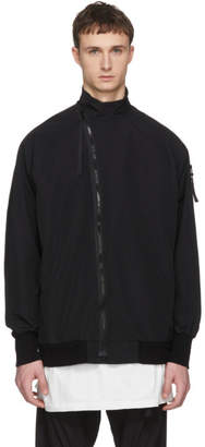 Julius Black Grosgrain Arm Zip Coat
