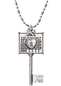 DAY Birger et Mikkelsen Not Just Any Old Personalized Silvertone Calendar Key to MyHeart Necklace
