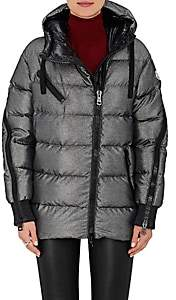 Moncler Women's Liriope Channel-Quilted Tech-Twill Coat-Silver