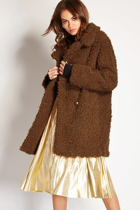 FOREVER 21+ Longline Faux Shearling Jacket $59.90 thestylecure.com