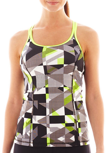 JCPenney Xersion Print Crossback Tank Top