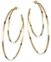 Jennifer Zeuner Jewelry Zume Double Hoop 18K Yellow Vermeil Earrings