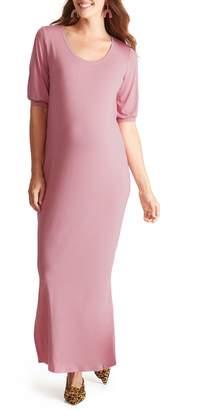 Ingrid & Isabel R) Split Sleeve Knit Maternity Maxi Dress