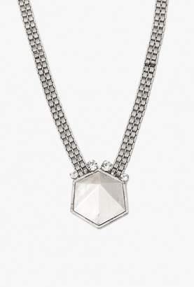 Nicole Romano Geo Rock Crystal Band Necklace