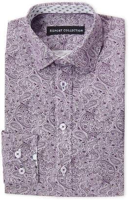 Report Collection Boys 4-7) Purple Paisley Dress Shirt