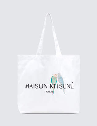 MAISON KITSUNÉ Lovebirds Tote Bag