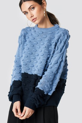 NA-KD Na Kd Bubble Stitch Knitted Sweater Black