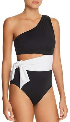 Ralph Lauren Bel Aire Cutout One-Shoulder One Piece Swimsuit