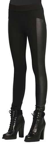 BCBGeneration Bcbgeneration Seamed Faux Leather Panel Leggings