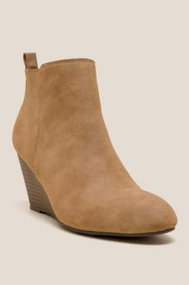 XOXO Bennington Wedge Ankle Boot - Tan