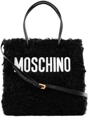 Moschino Medium Textured Logo Shopper Bag