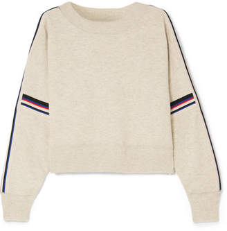Etoile Isabel Marant Kao Striped Knitted Sweater - Light gray