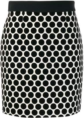 Fausto Puglisi dotted fitted skirt