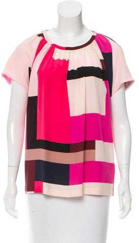 Kate Spade New York Printed Silk Blouse w/ Tags