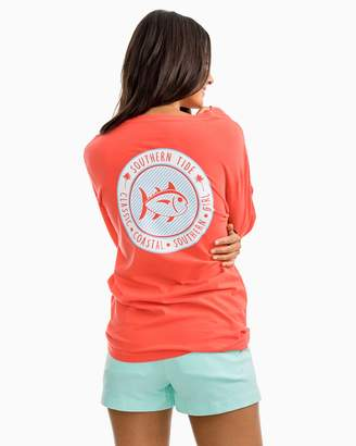 Southern Tide Seersucker Skipjack Long Sleeve T-shirt