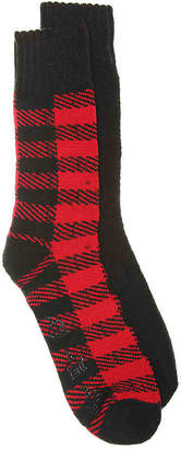 Aston Grey Buffalo Plaid Boot Socks - 2 Pack - Men's