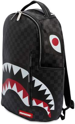 Black Checkered Shark In Paris Backpack