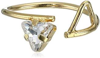 Kris Nations Angel Fire Swarovski Crystal Open Triangle Stone Adjustable Ring