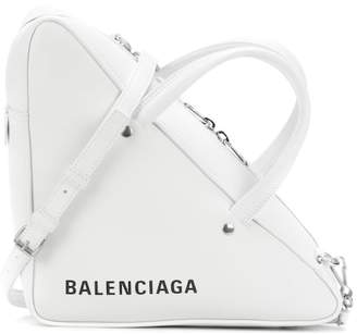 Balenciaga Triangle Duffle leather tote