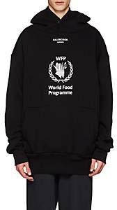 Balenciaga Men's World Food Programme Fleece Hoodie-Black