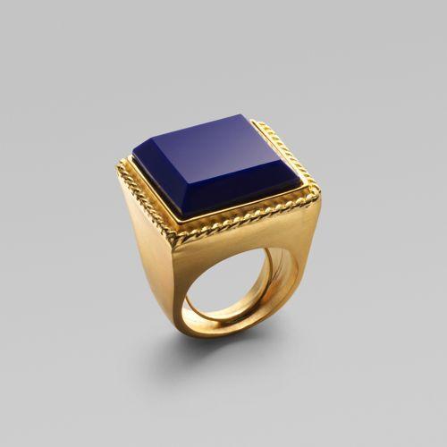 Kenneth Jay Lane Blue Lapis Ring