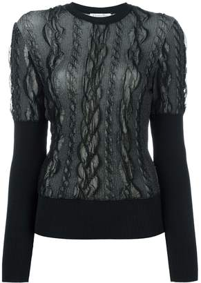 Christian Dior Pre-Owned lace overlay jumper
