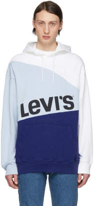 Levi's Levis Blue and White Crooked Hoodie