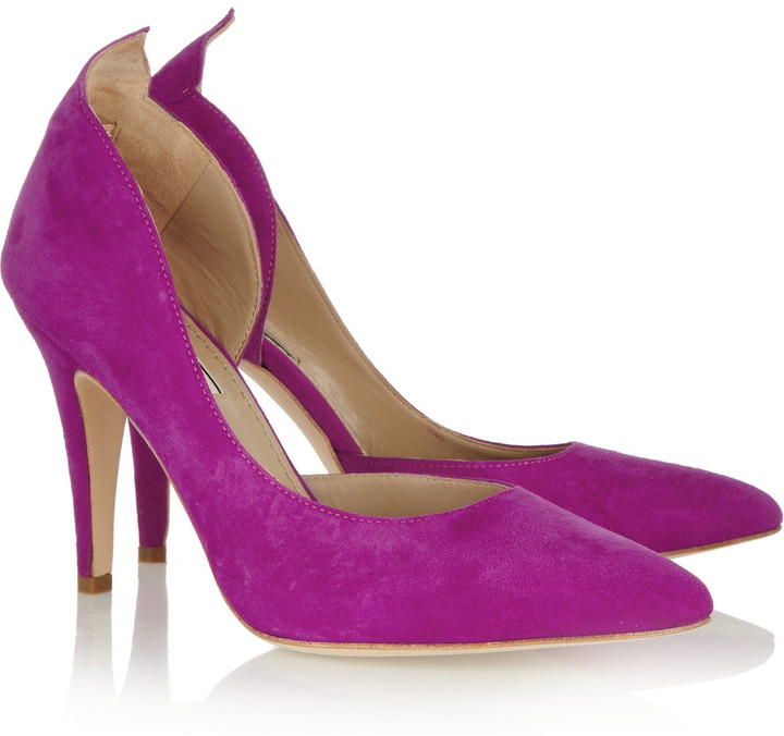 By Malene Birger Suede pointed pumps
