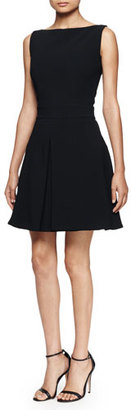 Alexander McQueen Pleated-Skirt Tank Dress, Black $2,065 thestylecure.com