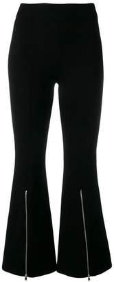 Stella McCartney zip-detail flared trousers